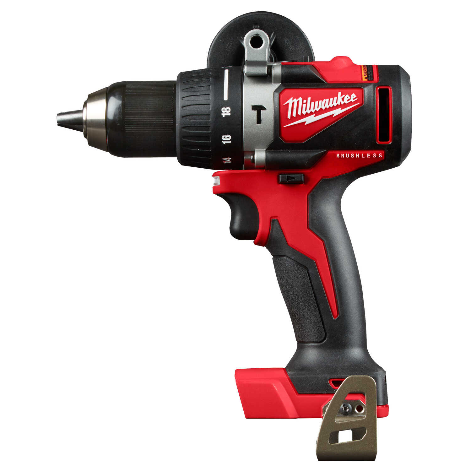 Milwaukee  M18  18 volt Brushless  Cordless Hammer Drill/Driver  Bare Tool  1/2 in. 1800 rpm