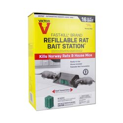 Victor  Fast-Kill  Toxic  Bait Station and Bait  Blocks  For Mice and Rats 8 pk