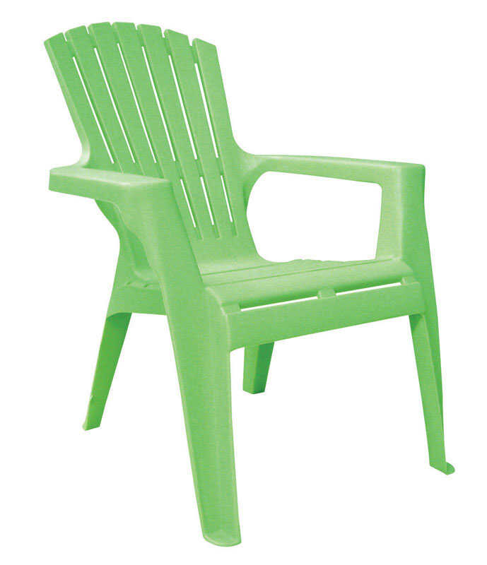 Adams  Kids  Green  Polypropylene  Adirondack  Chair