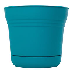 Bloem  12.8 in. H x 14.5 in. Dia. Resin  Planter  Teal