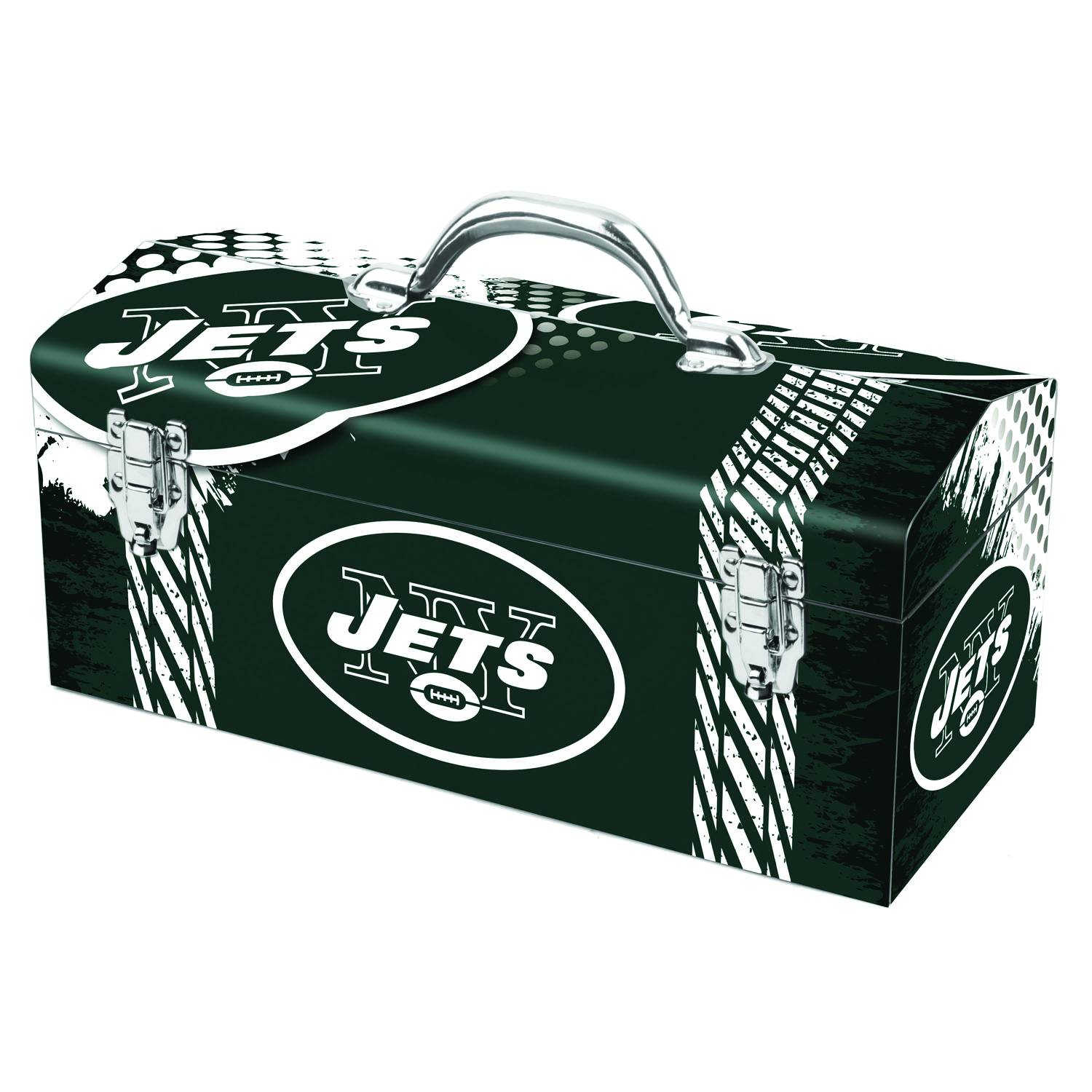 Sainty International  New York Jets  16.25 in. NFL  7.1 in. W x 7.75 in. H Art Deco Tool Box  Steel