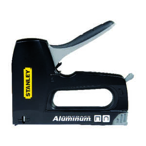 Stanley  3/8 in. Flat, Round  Staple Gun Tacker  Black