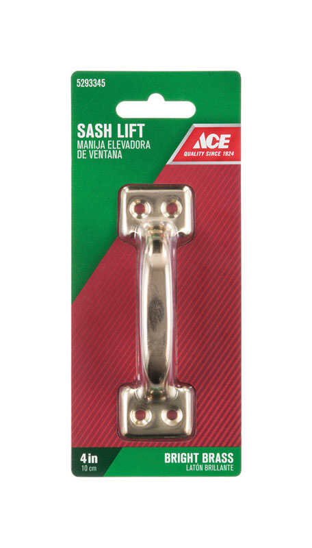 Ace  4 in. L Bright  Steel  Universal  Sash Lift Handle  1 pk