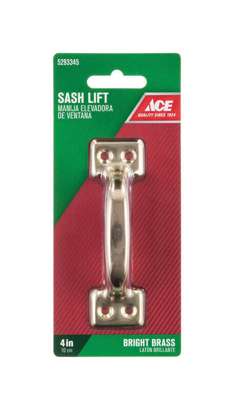 Ace  4 in. L Steel  Bright  1  Universal  Sash Lift Handle
