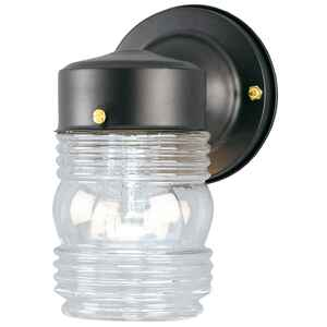 Westinghouse  Matte  Black  Switch  Incandescent  Jelly Jar Light