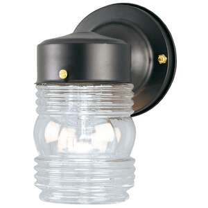 Westinghouse  Matte  Black  Incandescent  Jelly Jar Light