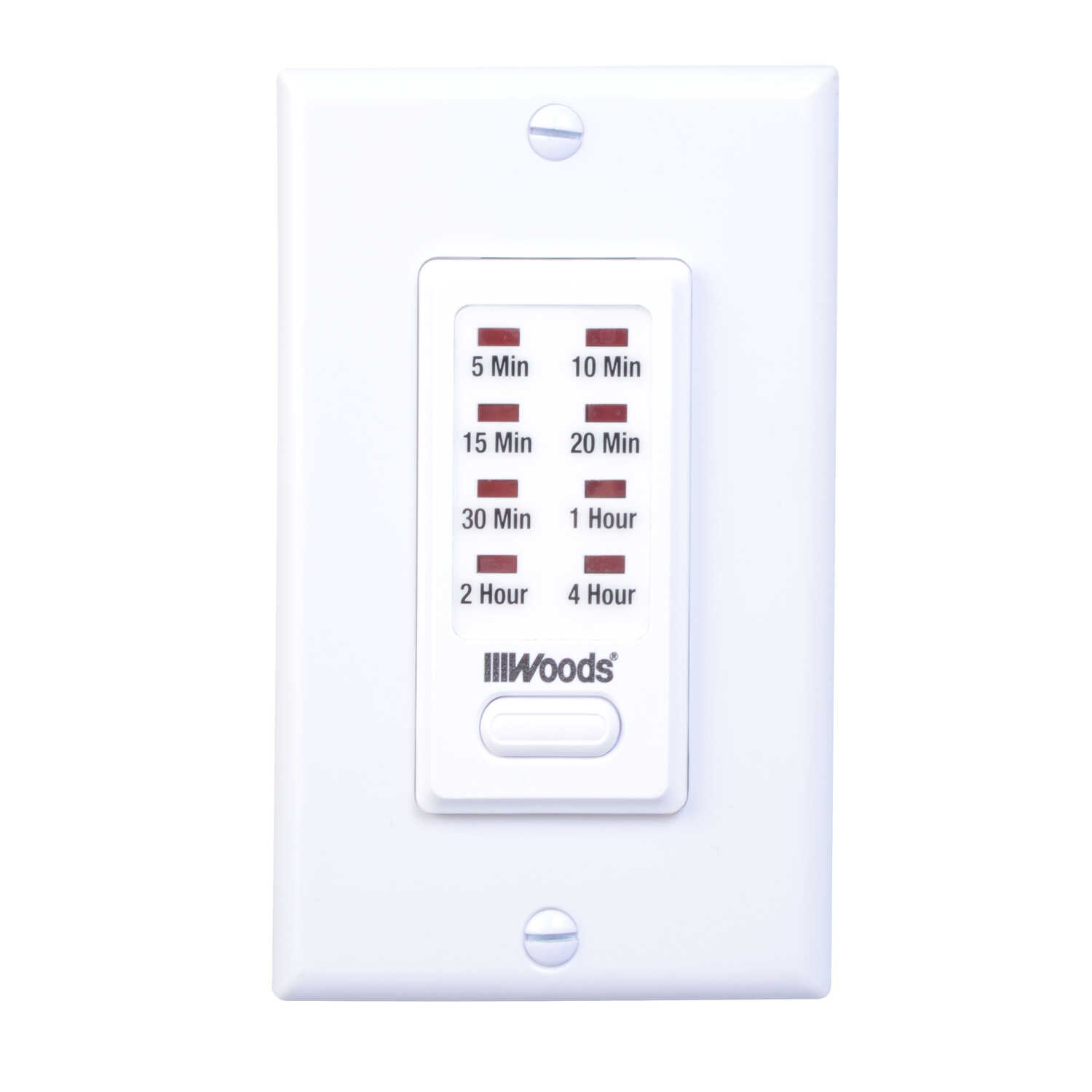 Woods  In Wall Countdown Timer  White  Indoor