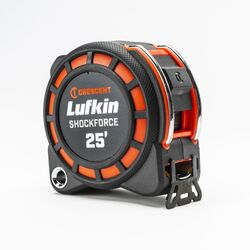 Crescent  Lufkin  25 ft. L x 1.19 in. W ShockForce  Tape Measure  Black/Red  1 pk