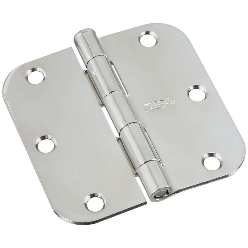 National Hardware 3-1/2 in. L Polished Chrome Door Hinge 1 pk