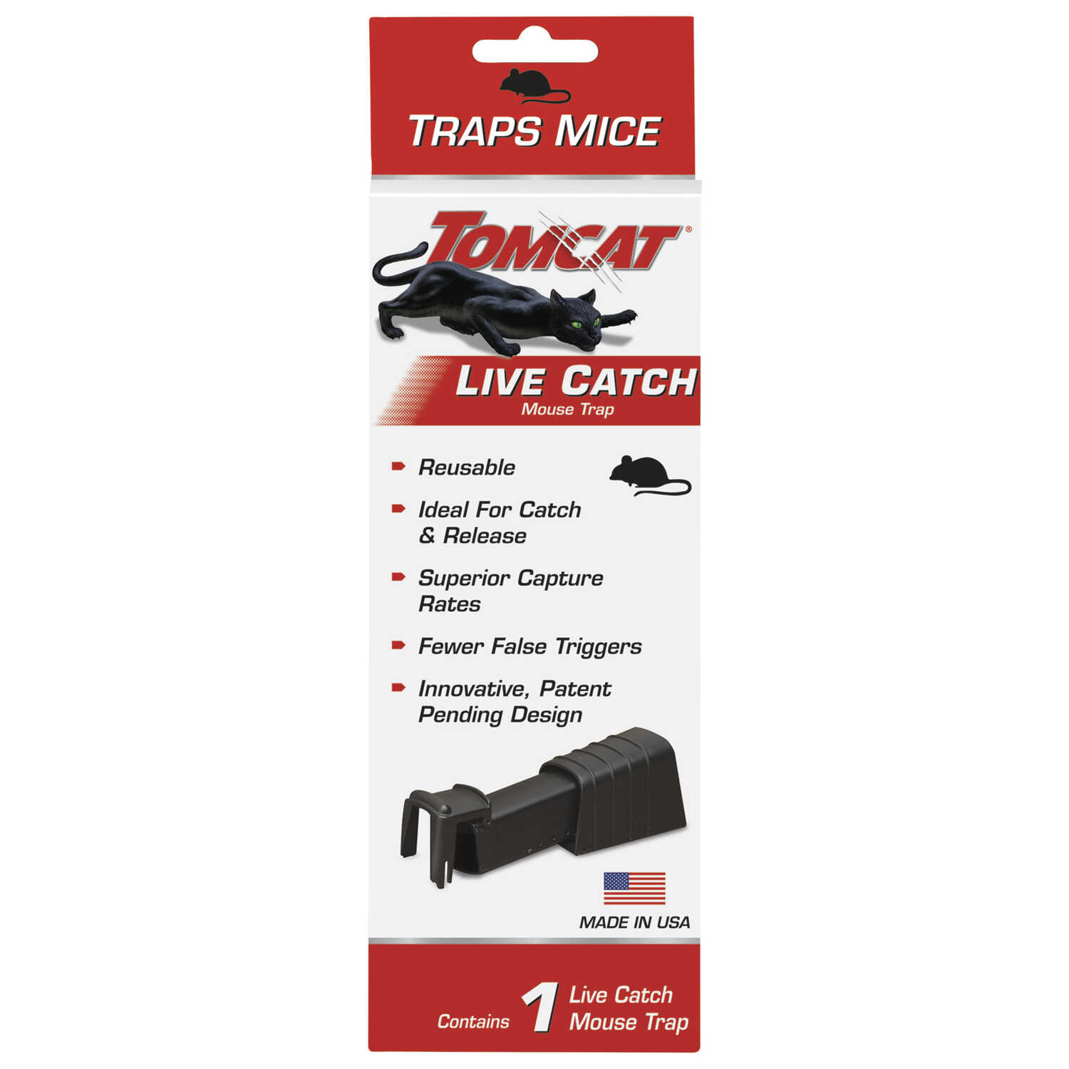 Tomcat  Live Catch  Animal Trap  For Mice 1 pk