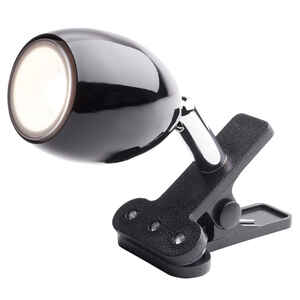Newhouse Lighting  Joe  4 in. Black  Mini Clip-On Lamp