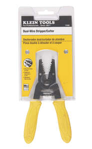 Klein Tools  14 AWG 6-1/4 in. L Dual-Wire Stripper/Cutter