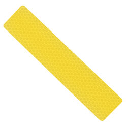 Hillman 24 in. Rectangle Yellow 24 in. L x 3 in. W Reflective Safety Tape 1 pk