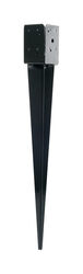 Simpson Strong-Tie  3.825 in. H x 34-7/8 in. D x 3.825 in. W Powder Coated  Black  Steel  Post-Base