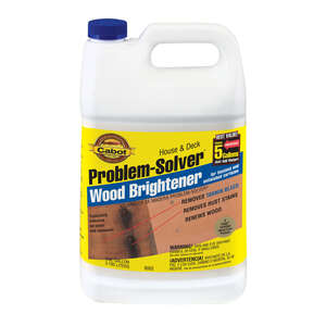 Cabot  Problem-Solver  No Scent Wood Brightener  1 gal. Liquid