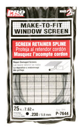 Prime-Line  0.23 in. Dia. x 25 in. L Screen Spline