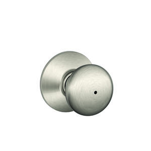 Schlage  Plymouth  Satin Nickel  Brass  Privacy Knob  2  Right or Left Handed