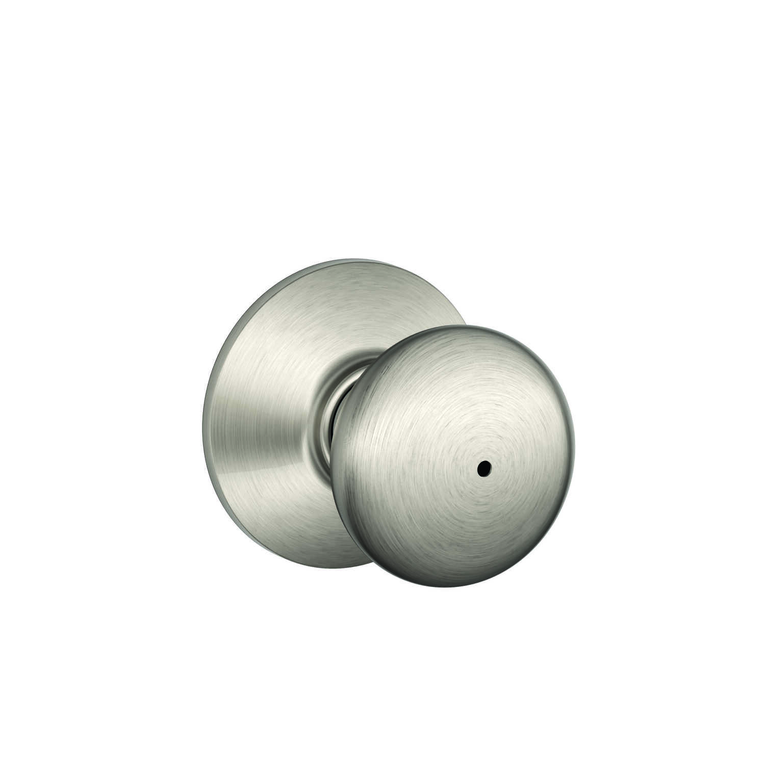 Schlage  Plymouth  Satin Nickel  Brass  Privacy Knob  2 Grade Right or Left Handed