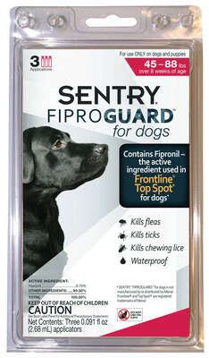Sentry Fiproguard Liquid Dog Flea Treatment 9.8% Fibronil, 8.8% (S)-methoprene 0.091 oz.