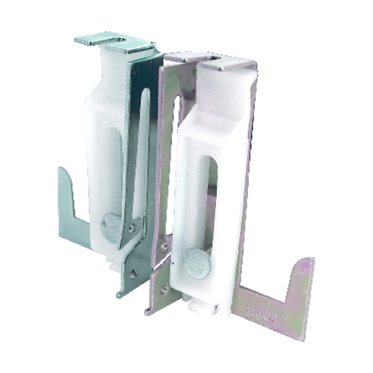 Prime-Line  Silver/White  Steel  Bottom mount Door Guide  2 pk