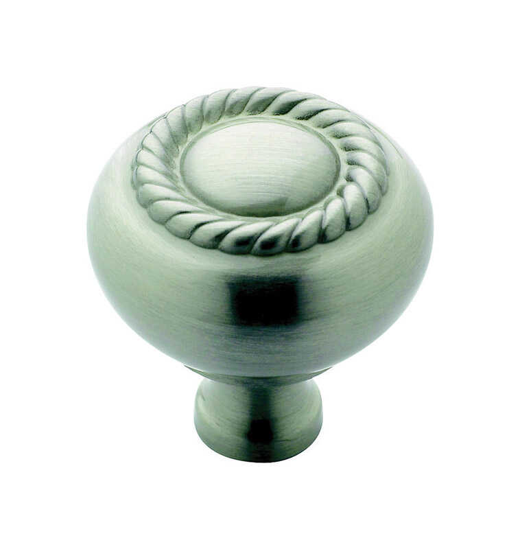 Amerock  Allison  Round  Cabinet Knob  1-1/4 in. Dia. 1-1/4 in. Satin Nickel  1 pk