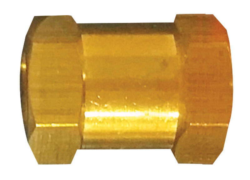 Tru-Flate  Brass/Steel  Hex Coupling  1/4  1/4 in. 1/4  Female  1 pc. FNPT  Female