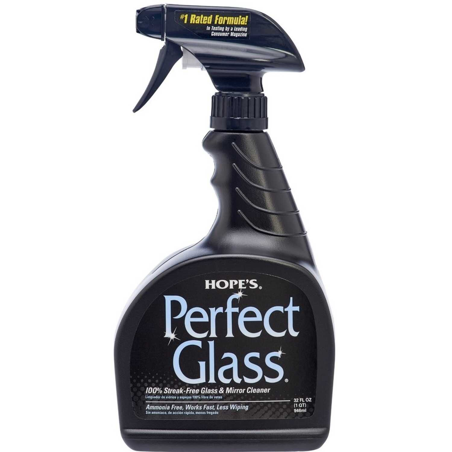 Hope's  Perfect Glass  No Scent Glass Cleaner  32 oz. Liquid