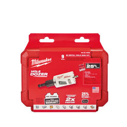 Milwaukee  Hole Dozer  Assorted  Dia. x 1-5/8 in. L Bi-Metal  Hole Saw Kit  1/4 in. 9 pc.