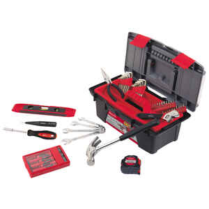 Apollo  53 pc. Household Tool Kit  Red