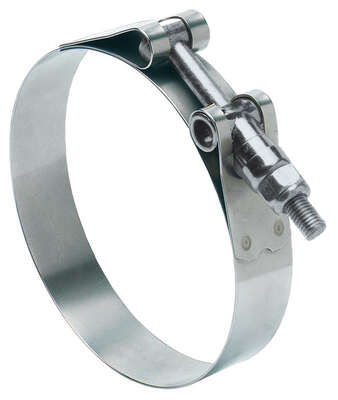 Ideal  Tridon  1 - 3/8 in. 1-9/16 in. SAE 138  Hose Clamp With Tongue Bridge  Stainless Steel Band