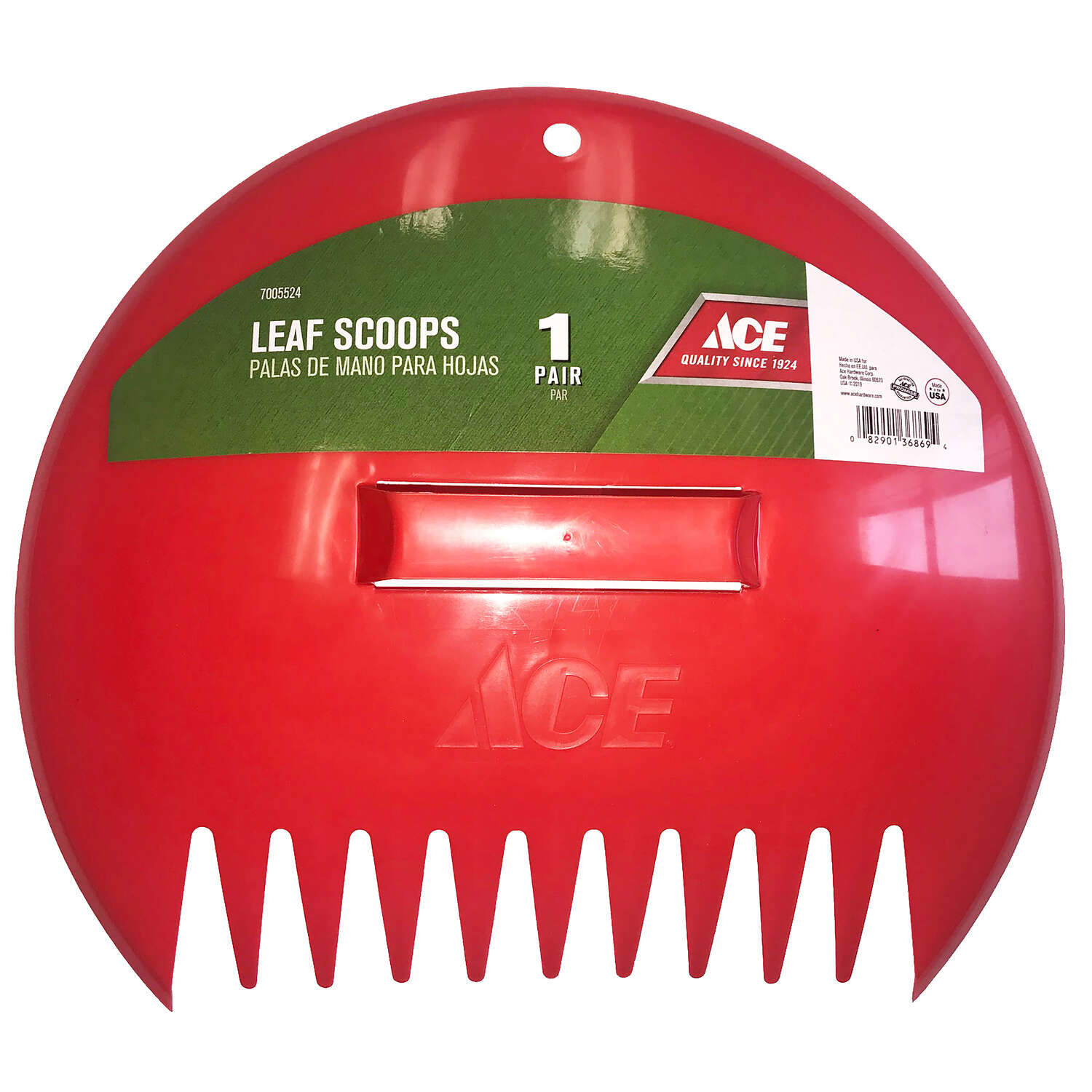 Ace  12.5 in. L x 14.5 in. W Plastic  Leaf Scoop  Polycarbonate