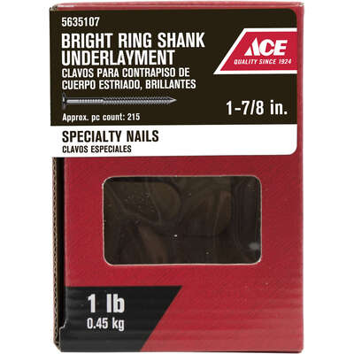 Ace  1-7/8 in. Underlayment  Bright  Nail  1 lb.