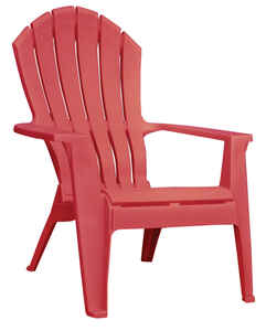 Adams  RealComfort  Red  Polypropylene  Adirondack Chair