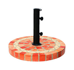 Outdoor Interiors  Multicolored  Terracotta  Umbrella Base  20 in. W x 17 in. H