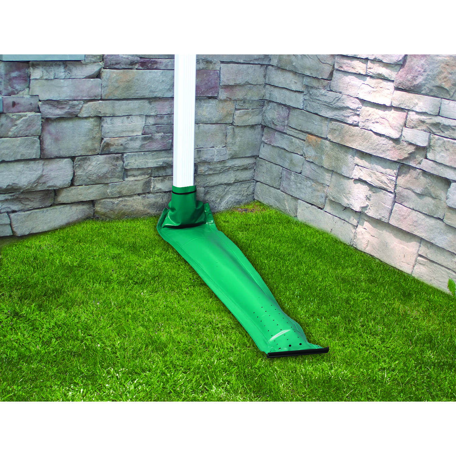 Frost King  Drain Away  7 in. H x 7 in. W x 8 ft. L Green  Plastic  K  Downspout Extension