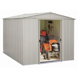 Arrow 10 ft. W x 10 ft. D Metal Vertical Storage Shed