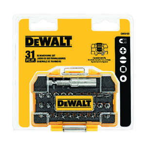 DeWalt  Impact Ready  31 pc. Screwdriver Set  Steel  2 in.