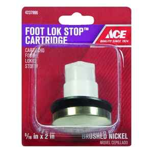Ace  5/16 in. Dia. Foot Lok Stopper  Plastic  Brushed Nickel