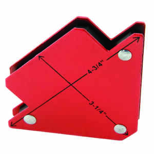 Forney  Metal  Small  Magnetic Jig  4-1/2 in. to 4-1/2 in. Red  1 pc.