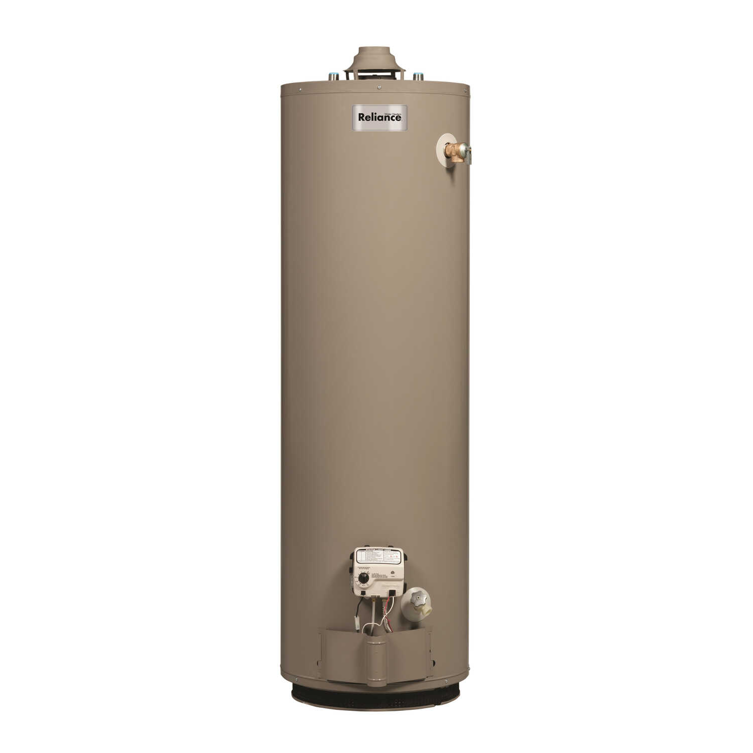 Reliance  Natural Gas  Water Heater  62 in. H x 18 in. L x 18 in. W 40 gal.