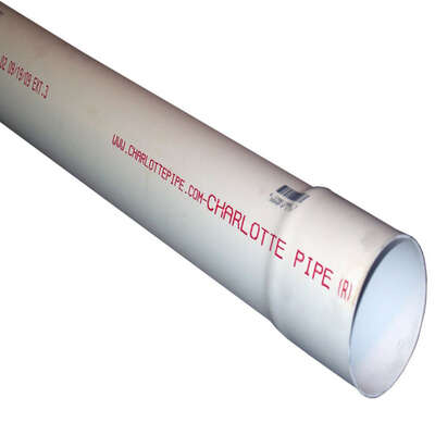 Charlotte Pipe 3 in. Dia. x 2 ft. L PVC Sewer and Drain Pipe