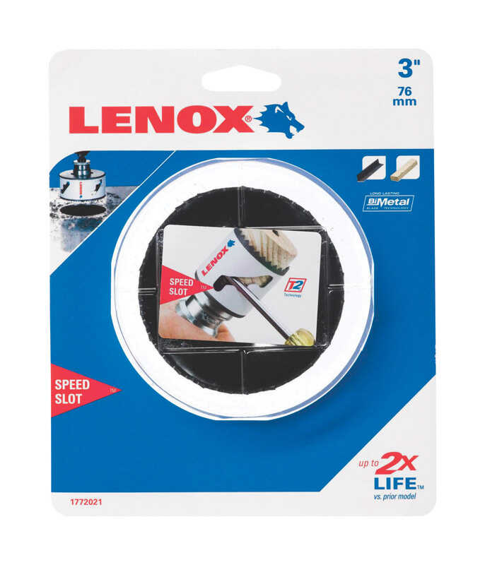 Lenox  Speed Slot  3 in. Dia. x 1.5 in. L Bi-Metal  Hole Saw  1/2 in. 1 pc.
