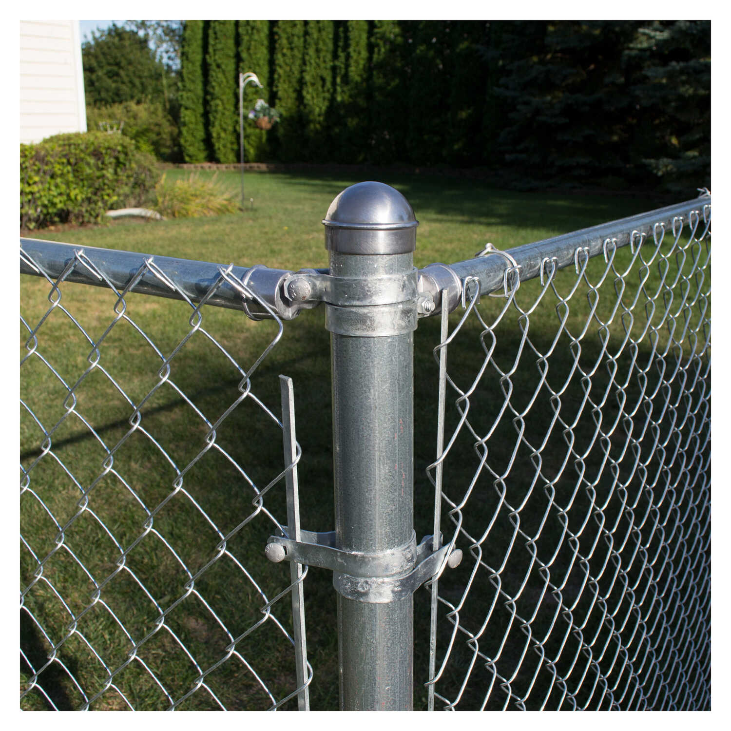 YardGard  6 in. H Aluminum  Chain Link Fence End/Gate Post Kit