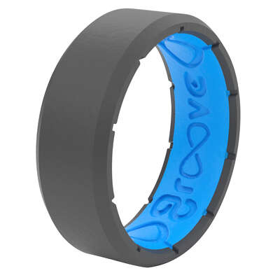 Groove Life  Men�s  Round  Deep Stone Gray  Ring  Silicone  Water Resistant