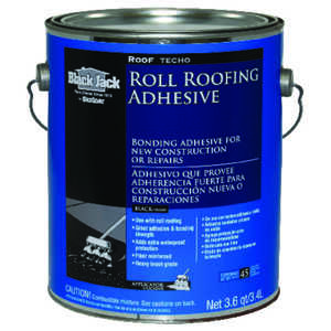 Black Jack  Gloss  Black  Roofing Sealant  Roll Roofing Adhesive  1 gal.