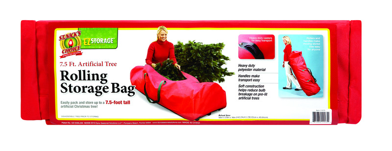 This Artificial Tree Rolling Storage Bag Makes it Easy to put away your Tree after the Holiday. Holds up to a 7.5' Tree