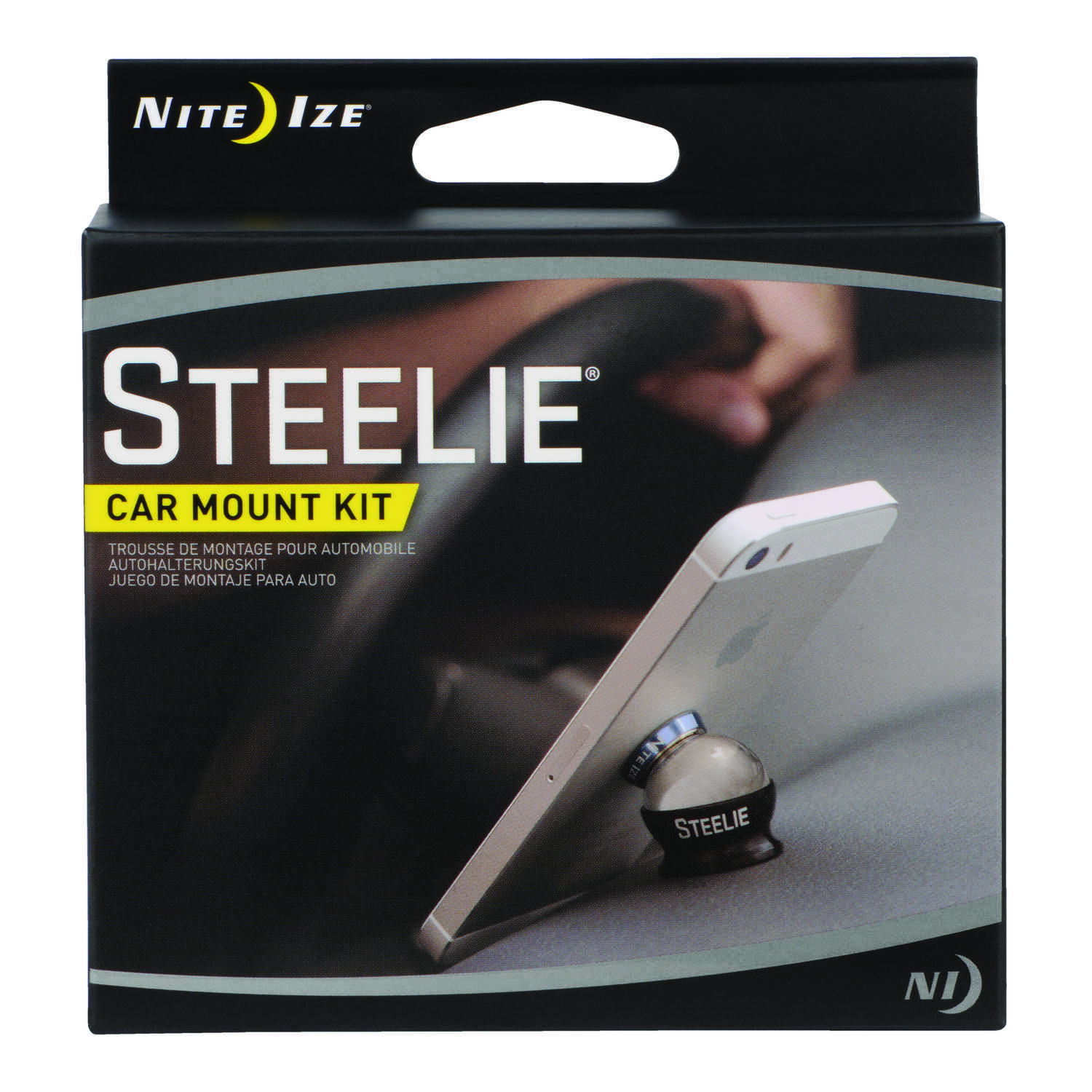 Nite Ize  Steelie  Black/Silver  Cell Phone Car Mount  Universal