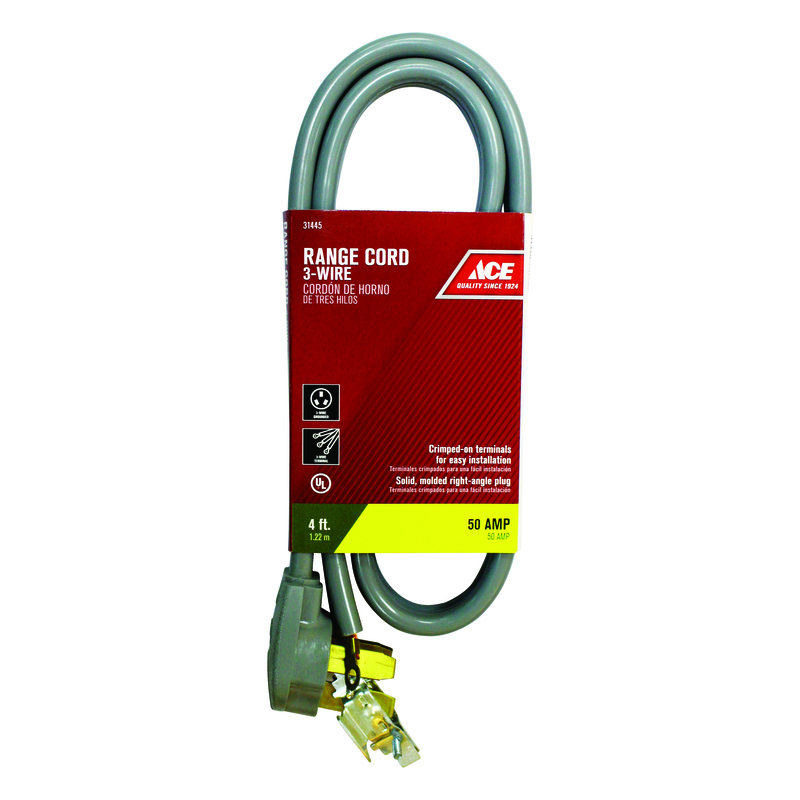Ace 4 ft. L Range Cord 3 Wire 6/2, 8/1 SRDT - Ace Hardware