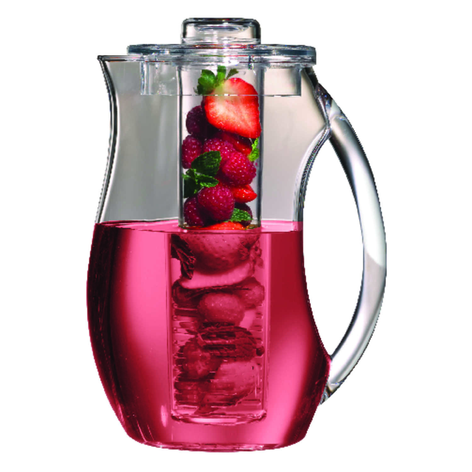 Prodyne  92 oz. Clear  Fruit Infusion Pitcher  Acrylic