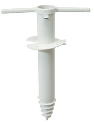 Rio Brands  White  Plastic  Umbrella Base  4 in. W x 12-1/2 in. H